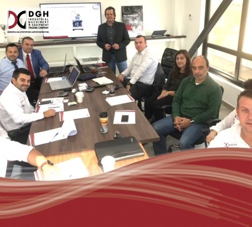 Annual Gardner Denver Sales Seminar at DGH headquarters in Greece.